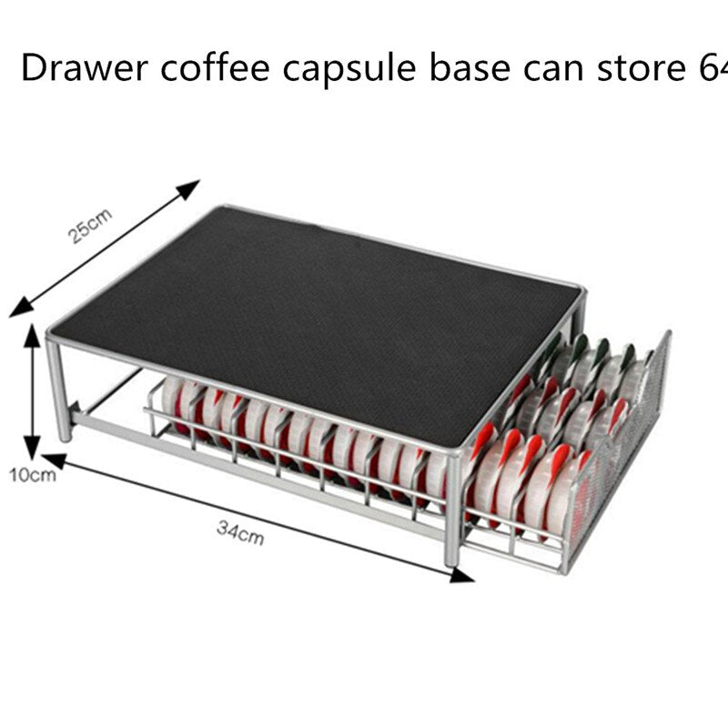 54pcs or 36pcs Nespresso Capsules Metal Capsule Coffee Pod Holder Rack Capsule Storage Drawers