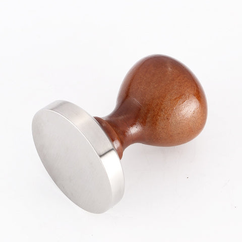 58mm Tamper for Coffee and Espresso, 304 Stainless Steel Base with Solid Wood Handle
