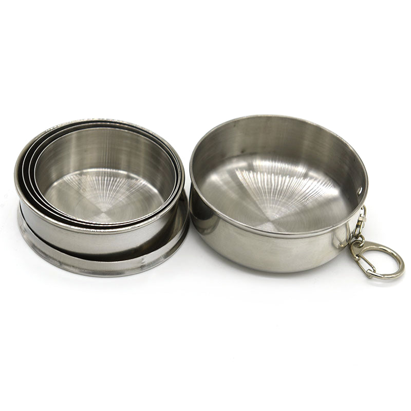 60ml/150ml/250ml 1pcs Stainless Steel Folding Cup Portable Outdoor Travel Camping Telescopic Cup