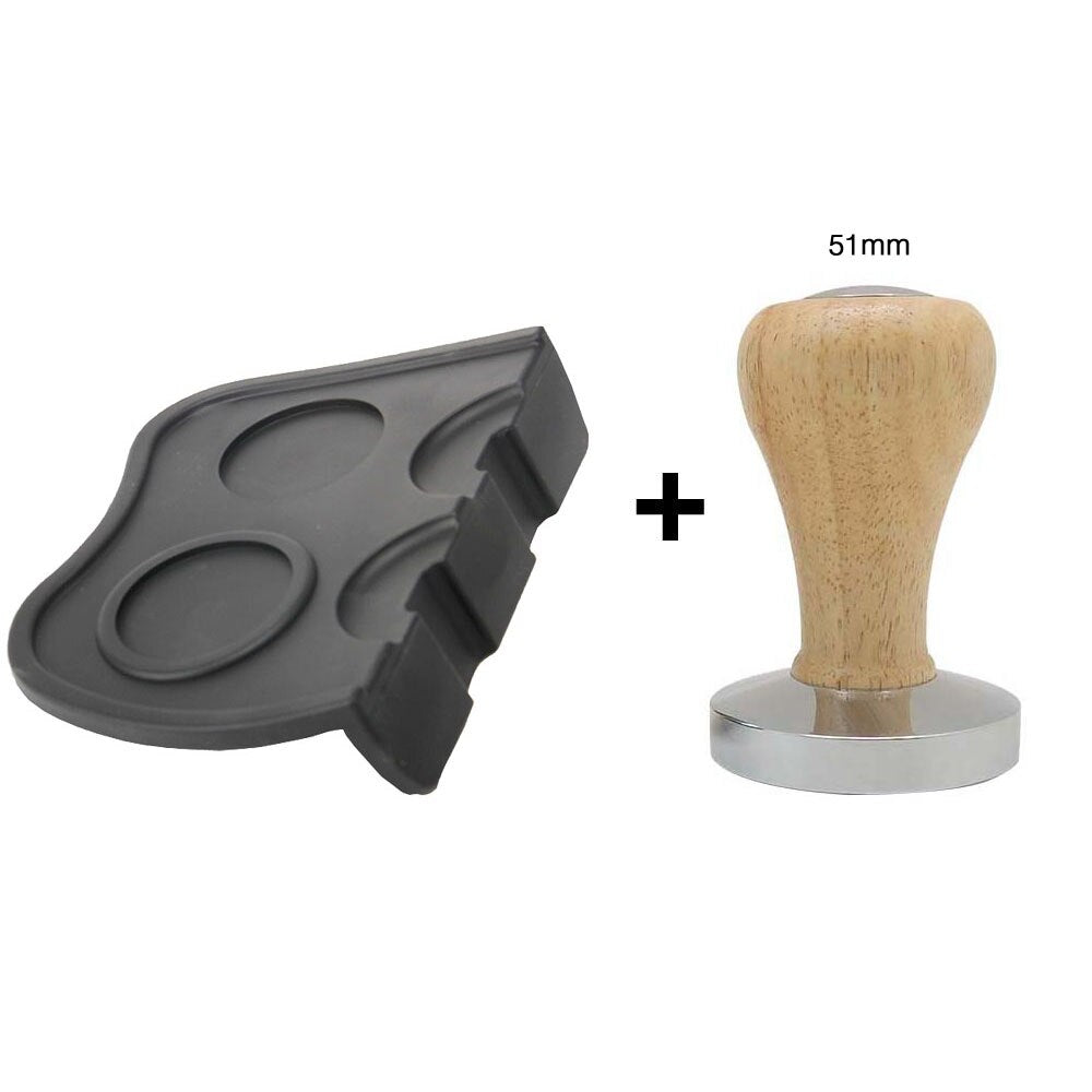 AREYOUCAN Silicone Coffee Tamper Mat Holder Espresso Maker Support Base Non-Slip Flexible Corner Mat