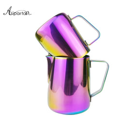 Asipartan 1pc Frothing Jug Espresso Coffee Pitcher Barista Craft Coffee Latte Milk Frothing Jug
