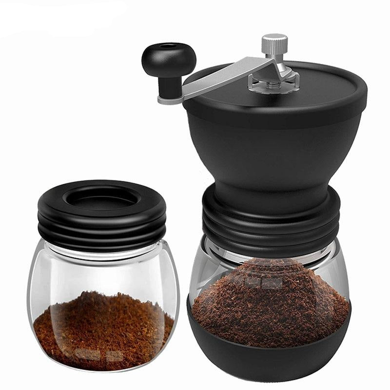 BORREY 1Pc Coffee Grinder Hand Retro Coffee Mill, Plastic Manual Grinding Machine, Manual Grinder