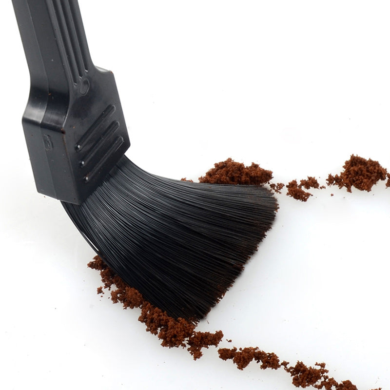 Black Coffee Cleaning Brush Milk Tea Powder Clean Bar Table Brushes Plastic Soft Flexible Bristles
