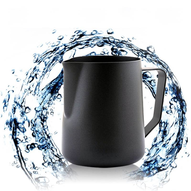 Black Non-stick Coating Coffee Mug Cup Jug Stainless Steel Espresso Milk Coffee Frothing Jug