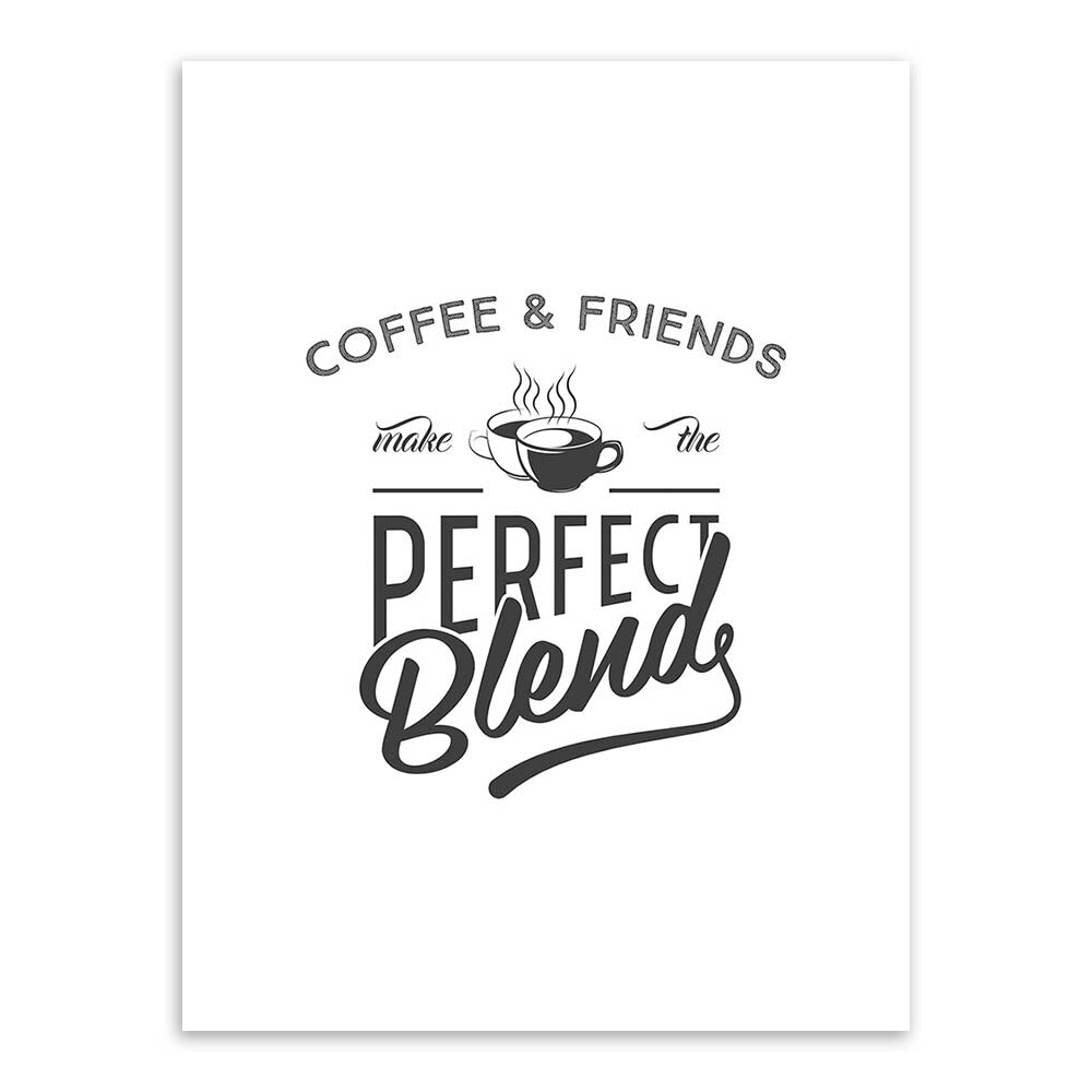 Black and White Coffee Quote Typography Poster Print Vintage Nordic Kitchen Wall Art Picture Cafe Home Decor Big Canvas Painting