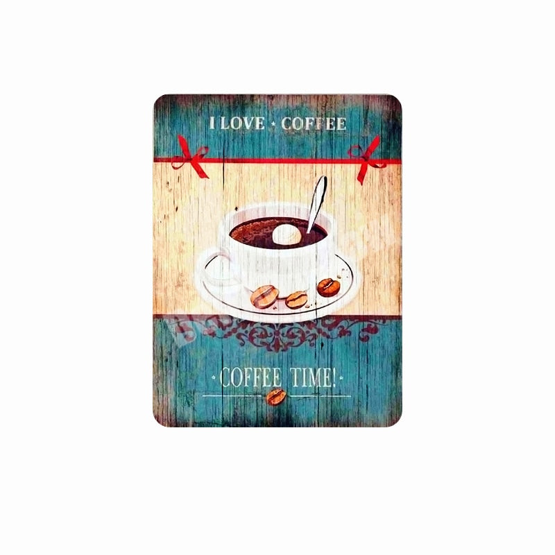 COFFEE MENU Retro Metal Tin Signs ART Poster Vintage Decorative Coffee Plates for Bar Pub Cafe Wall Decor Friends Gift N077