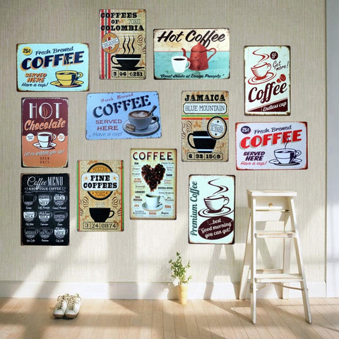 COFFEE Tin Signs Metal Plates for  Wall Bar Home Art Craft Decor Iron Poster Cuadros  30X20CM A-5230