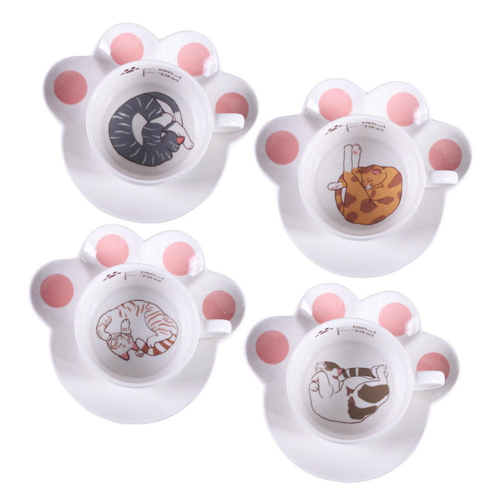 Cartoon Cat Coffee Set Creative Milk Breakfast Cups & Saucers Ceramic Cups Cartoon Gift