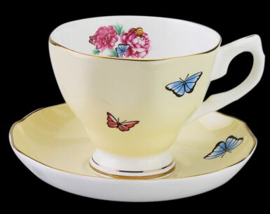 China Tangshan Guci coffee cup set ceramic dish British afternoon tea creative variety of high-grade