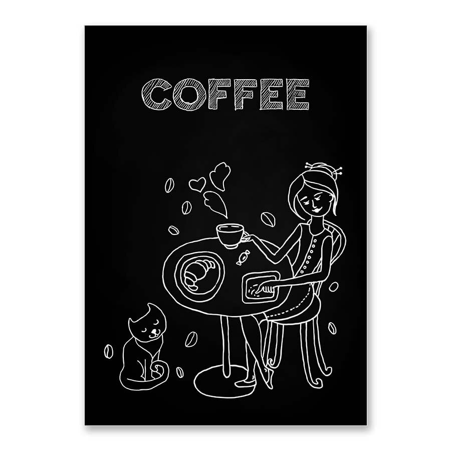 Coffee Cup Canvas Painting Vintage Wall Art Prints And Poster Wall Pictures For Living Room Coffee Shop Kitchen Home Decor