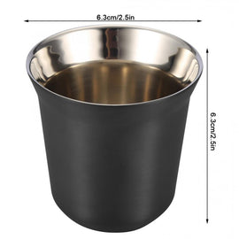 Coffee Cup Double Wall Stainless Steel Espresso Mugs 80ml Insulated Anti-scalding Tea Cups Dishwasher Easy Clean Coffee Mug