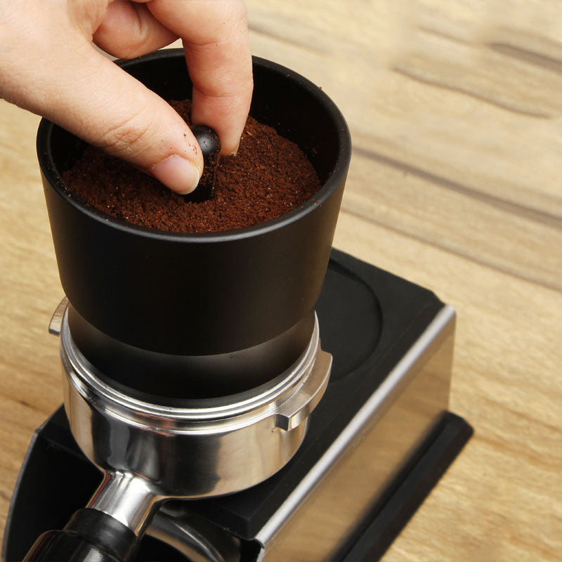 Coffee Dosing Ring Aluminum Alloy Intelligent Powder Feeder Grinder Brewing Bowl Cup Barista Tool
