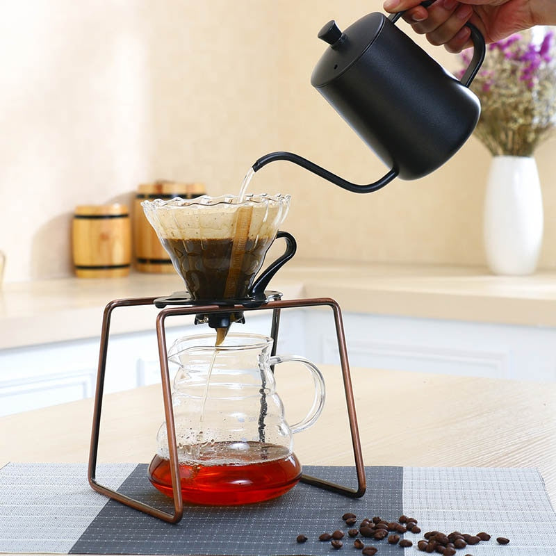 Coffee Dripper Geometric Reusable Pour Over Coffee Filter Stand,Permanent Coffee Dripper for