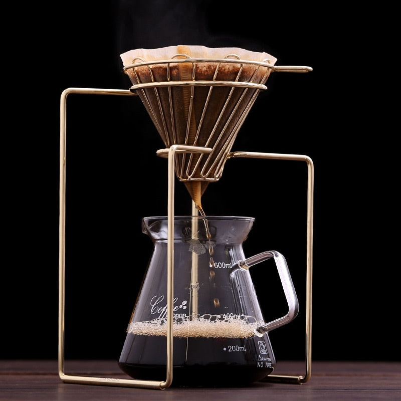Coffee Filters Coffee Maker Dripper Geometric, Reusable Pour Over Coffee Filter Stand,Permanent