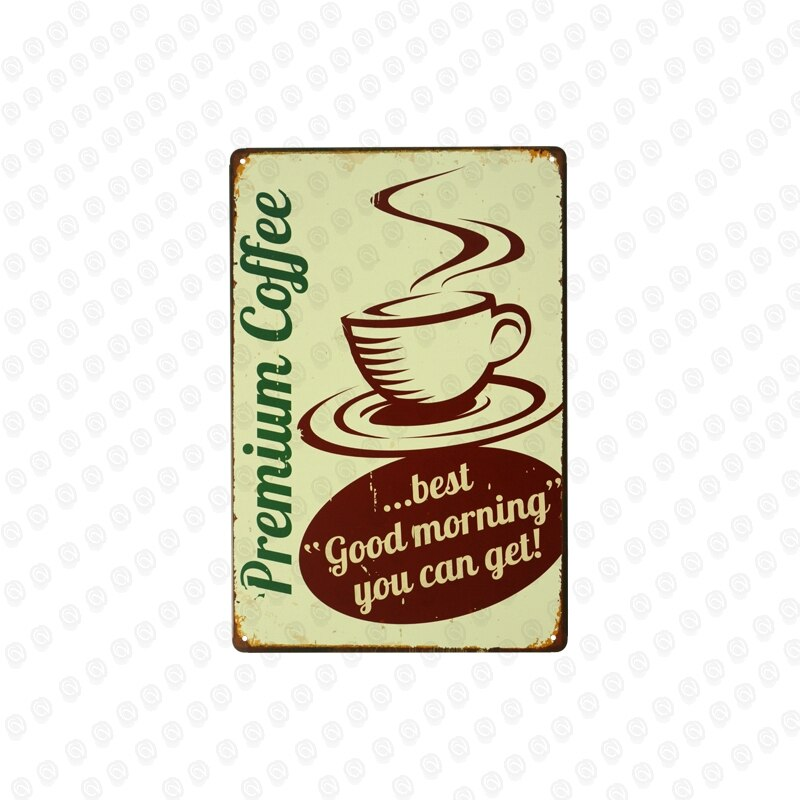 Coffee House Shop Home Cafe Kitchen Restaurant Decor Retro Plaques Wall Sticker Art Poster Metal Tin Sign