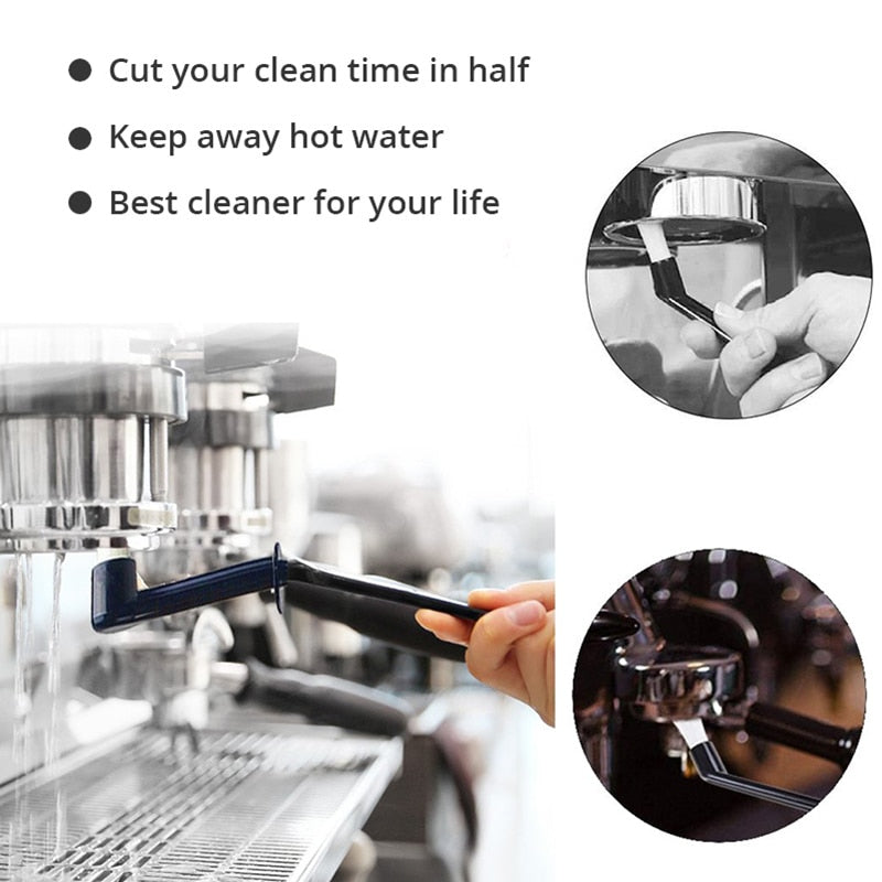 Coffee Machine Cleaning Brush with Spoon for Espresso Machine / Coffee Cleaning Tool