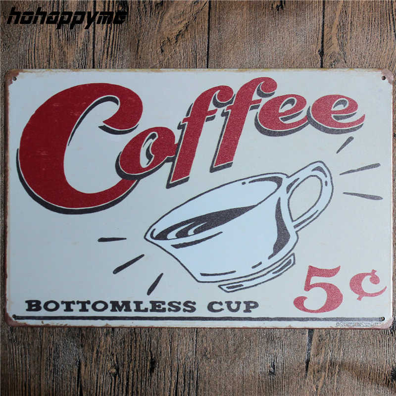 Coffee Menu Metal Plaque Signs House Art License Poster Home Decoration License Plate Tin Wall Decor 20*30 CM