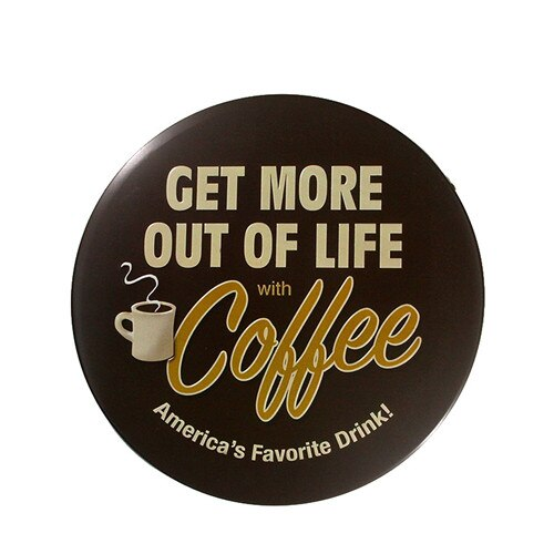 Coffee Retro Metal Sign Shop Kitchen Wall Posters Round Irregular Tin Signs