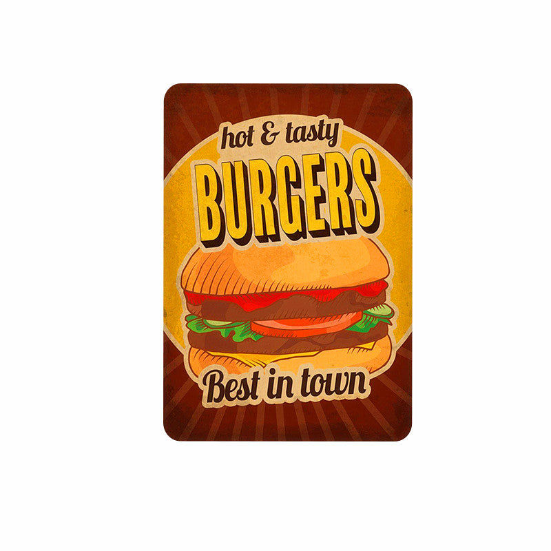 Coffee Vintage Metal Tin Signs Cake Dessert Hamburger Plaque Poster Bar Pub Bakery Wall Cafe Home Decor Plates Stickers A677