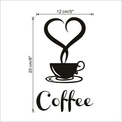 Coffee shop Restaurant wall decor decals home decorations 361 kitchen removable vinyl wall art diy