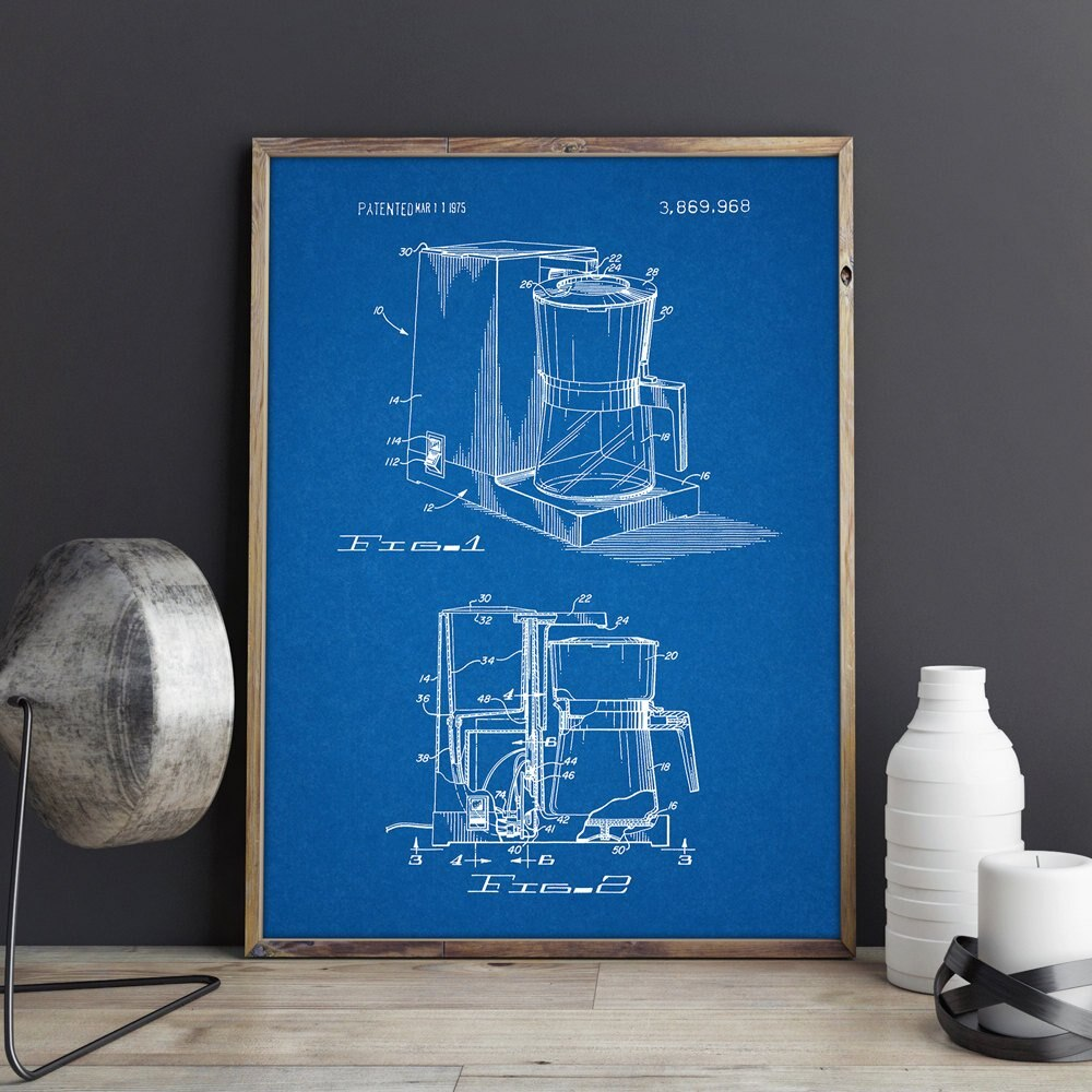 Coffeemaker patent,artwork,Coffee Lover wall art, posters,picture, room decor,Dinner print,blueprint, gift idea,wall Decorations