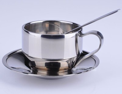 Continental 304 stainless steel coffee cup Espresso coffee set Milk tea cup  three-piece  gold