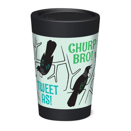 Cuppa Coffee Cup - Churp Bro by NZ Artist Glenn Jones - Large (12oz/350ml)