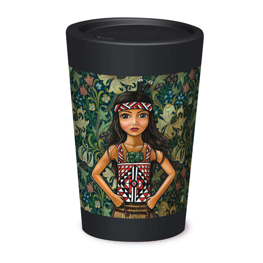 Cuppa Coffee Cup - Courage and Pride by NZ Artist Mandy Williams - Large (12oz/350ml)