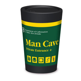 Cuppa Coffee Cup - Man Cave by NZ Artist Glenn Jones - Large (12oz/350ml)