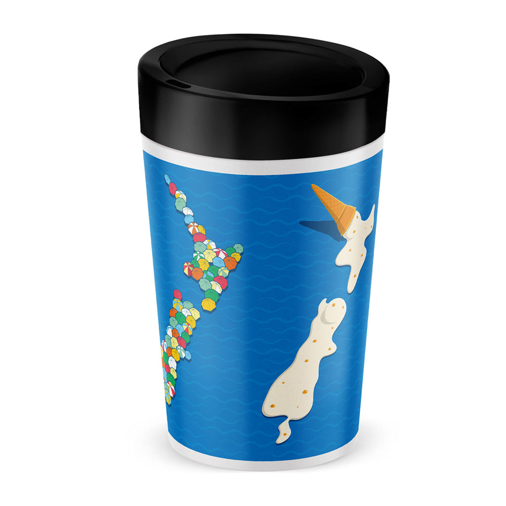 Cuppa Coffee Cup - New Zealand by NZ Artist Glenn Jones - Large (12oz/350ml)
