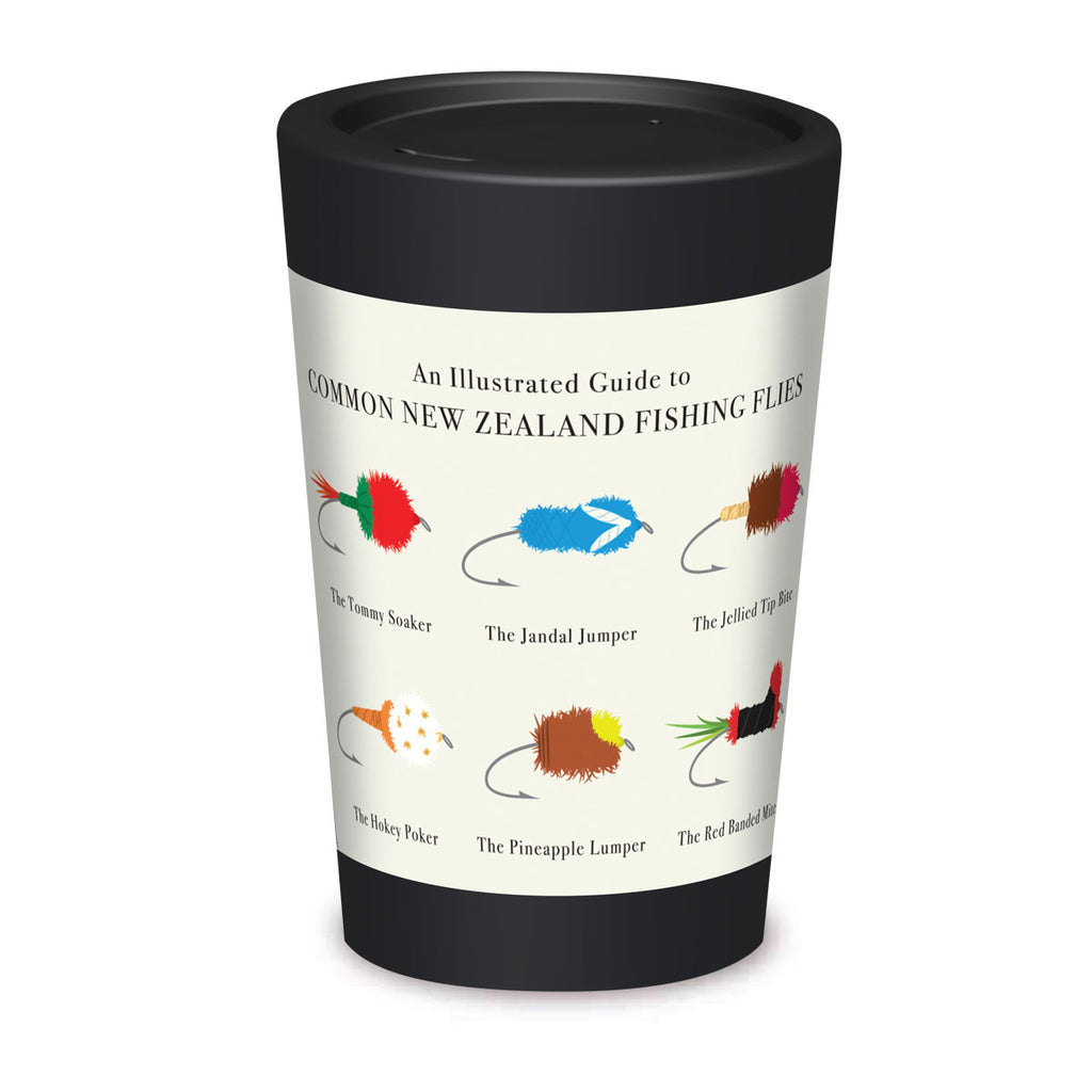 Cuppa Coffee Cup - On the Fly by NZ Artist Glenn Jones - Large (12oz/350ml)