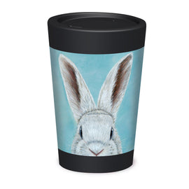 Cuppa Coffee Cup - Spring Wabbit by NZ Artist Mandy Williams - Large (12oz/350ml)