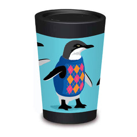 Cuppa Coffee Cup - Trendsetter Penguins by NZ Artist Glenn Jones - Large (12oz/350ml)