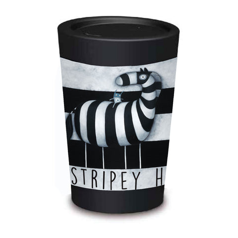 Cuppa Coffee Cup - Ze Stripey Horse by NZ Artist Tony Cribb - Large (12oz/350ml)