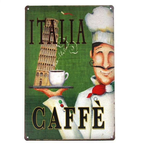 DL-Coffee Metal Sign, Hot Drink, Kitchen, Restaurant, Coffee Shop Wall Decor modern wall art