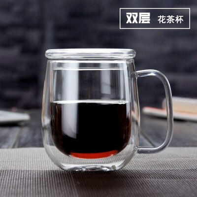 Double Coffee Mugs With the Handle Mugs Drinking Insulation Double Wall Glass Tea Cup Creative Gift Drinkware Milk