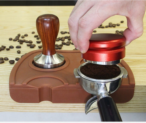 Espresso Coffee Tamper Mat Rubber Irregular Holder Pressed Powder Anti-slip Safe Corner Pad Coffee