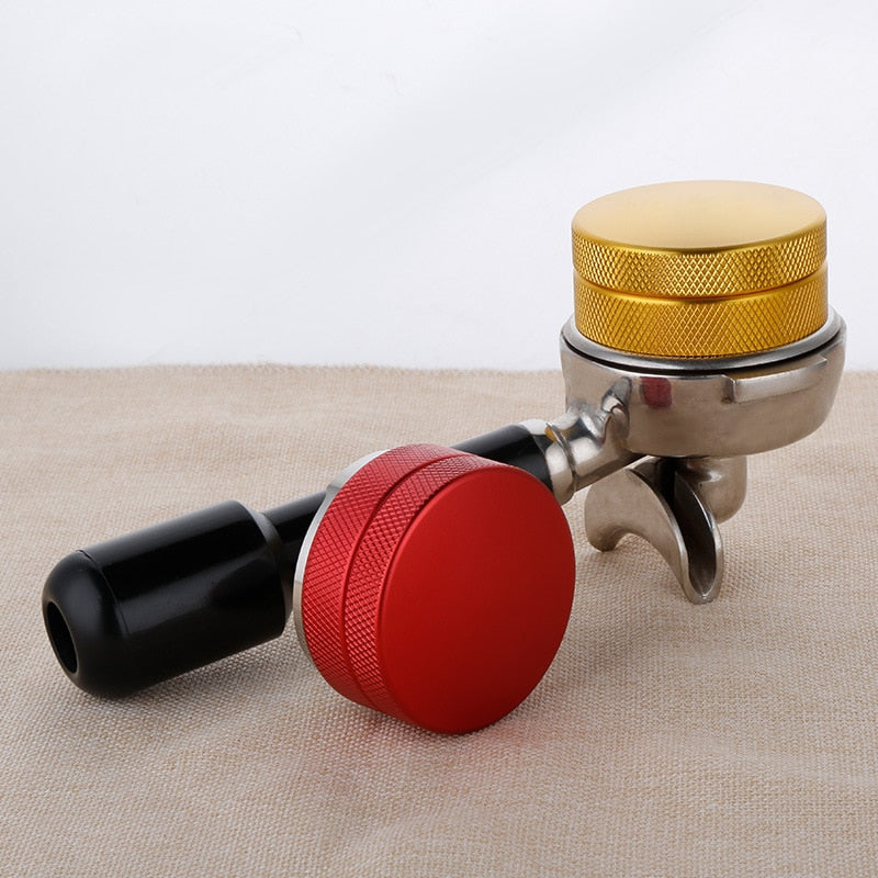 Espresso Coffee Tamper,Upgrade Coffee Tamper for Barista Flat Stainless Steel Base Coffee Bean Press