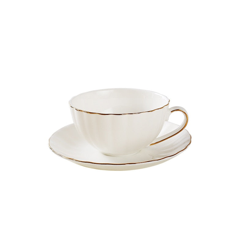Europe Bone Porcelain Cup Coincidence Porcelain Coffee Cup Saucer Set 210ml Ceramic Tea Cup Cafe