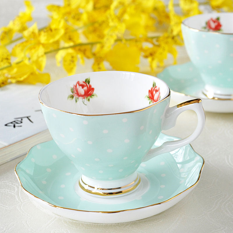 European Bone china coffee set Creative simple ceramic porcelain dish Afternoon tea milk cup 200ML