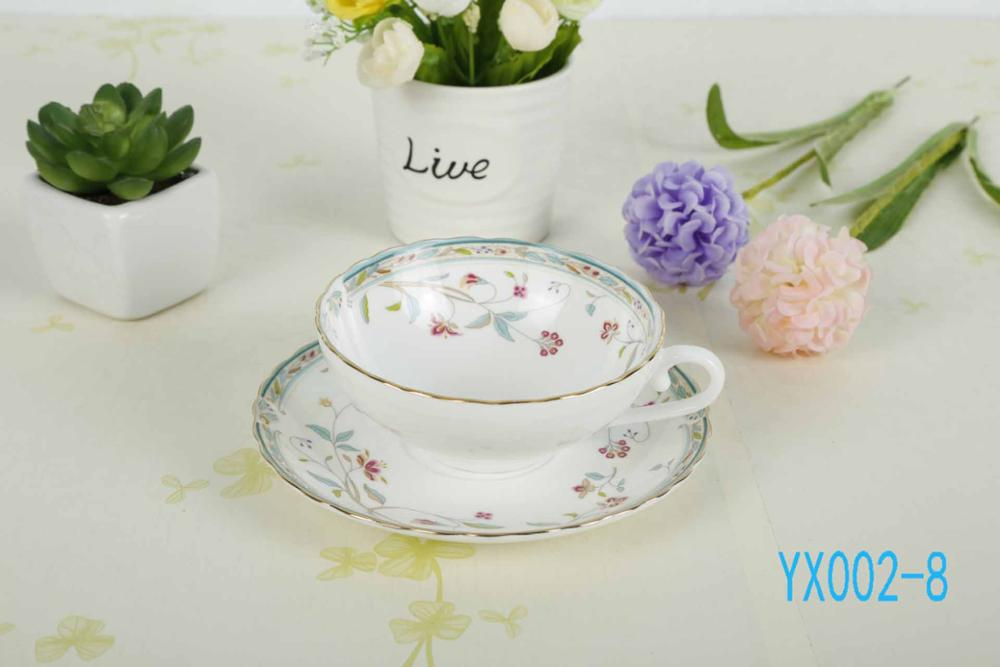 European style bone china coffee cup high grade afternoon tea cups creative ceramic tea set 160ML