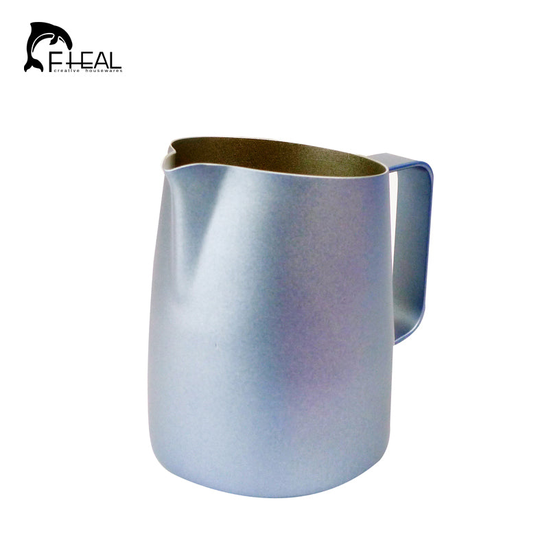 FHEAL Stainless Steel Espresso Coffee Milk Mugs Milk Coffee Frothing Jug Pitcher Craft Cup Kitchen