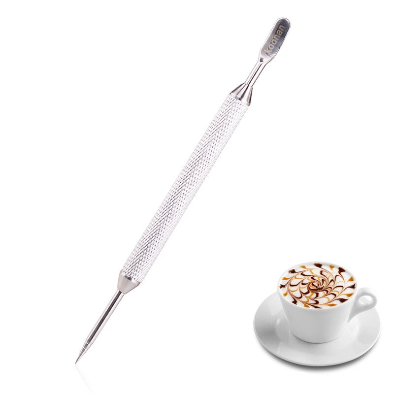 FeiC 1pc 4 colors Coffee espresso Latte Art Pen Stainless Steel Tool Milk foam