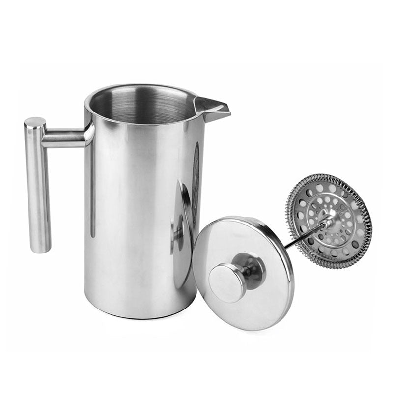 French Press Coffee Maker Best Double Walled Stainless Steel Cafetiere Insulated Coffee Tea Maker