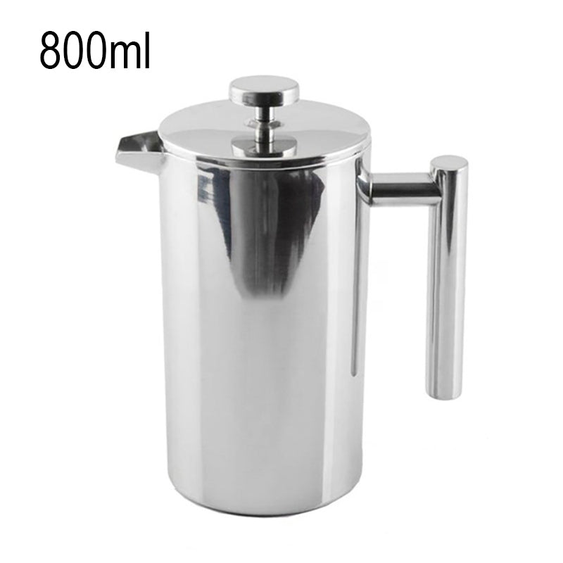 French Press Coffee Maker Double Walled Stainless Steel Cafetiere Insulated Coffee Tea Maker Pot