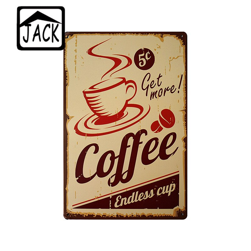 Fresh Brewed Coffee Menu Metal Plaques Cafe Bakery Shop Kitchen Vintage Home Wall Decor Poster Retro Painting 20*30CM Tin Signs