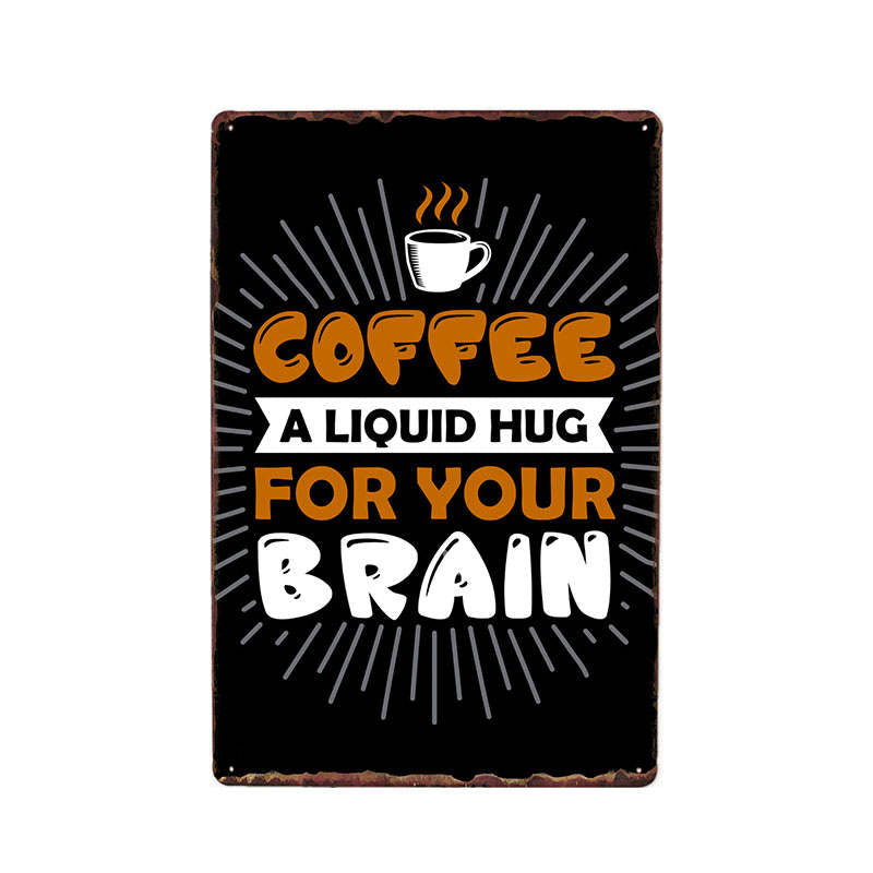 Funny Coffee Quote Saying Best Metal Sign Vintage Poster For Cafe Bar Pub Wall Decor Plates Home Decor 20*30 cm