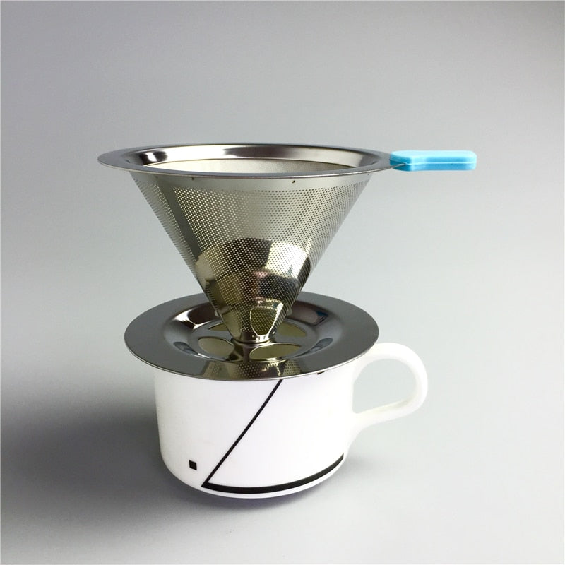 GATER Reusable Coffee Filter Holder Stainless Steel Brew Drip Coffee Filters Funnel Metal Mesh