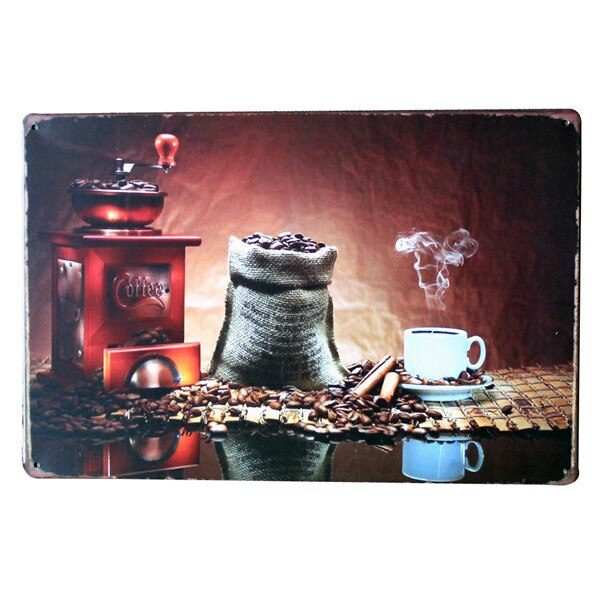 Get More COFFEE Metal Tin Sign Fashion Retro Decor Plaque for shop bar kitchen wall art poster LJ5-1 20x30cm B1