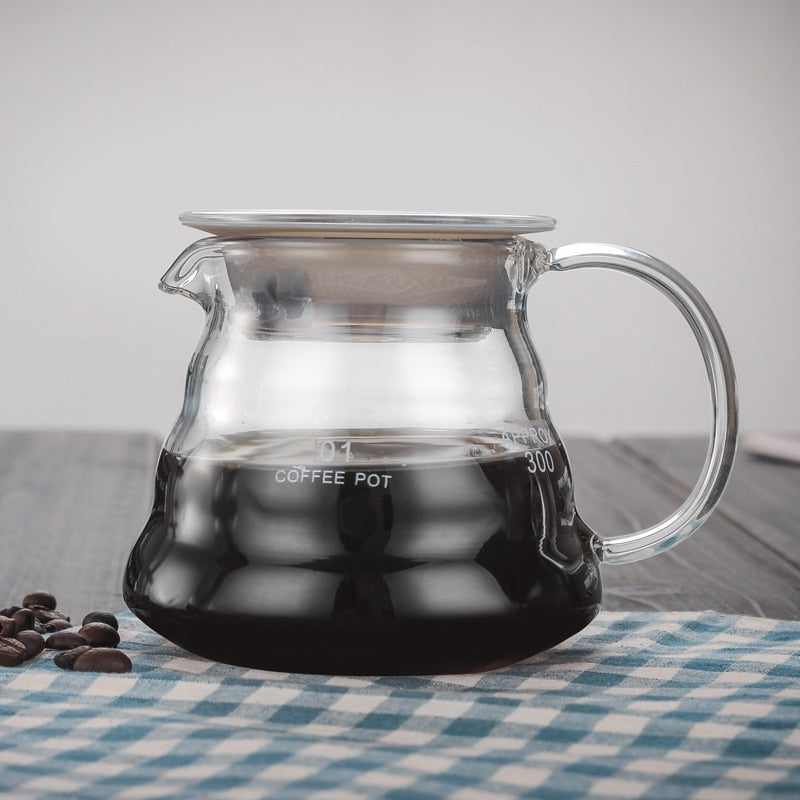 Glass Coffee Pot Cloud Shaped Coffee Kettle Reusable Coffee Pot Heat Resistant Teapot Coffee